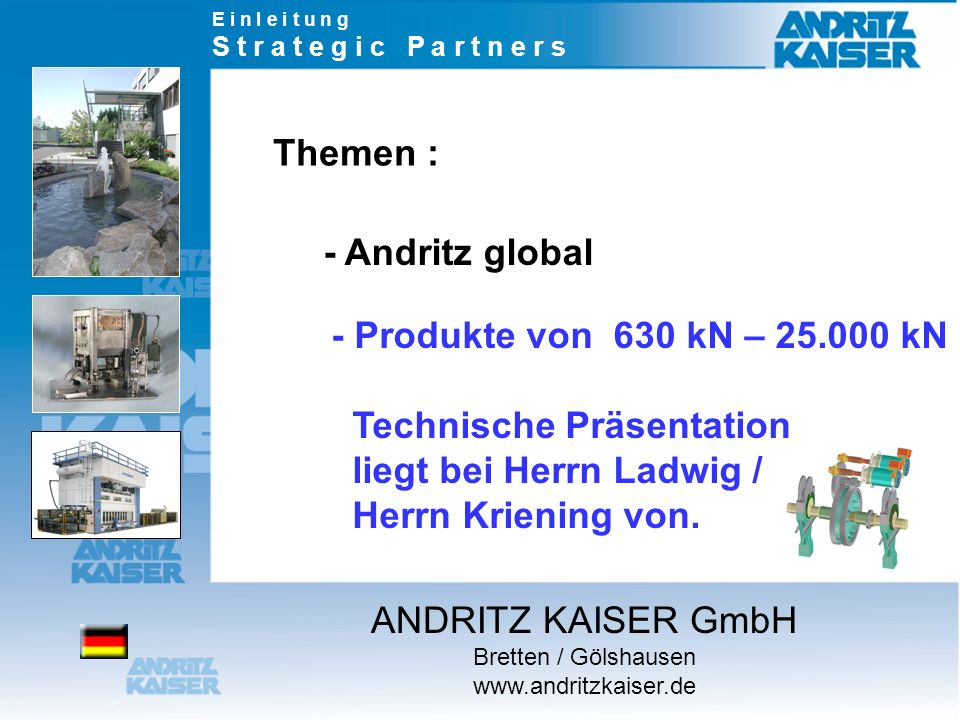 Themen : - Andritz global
