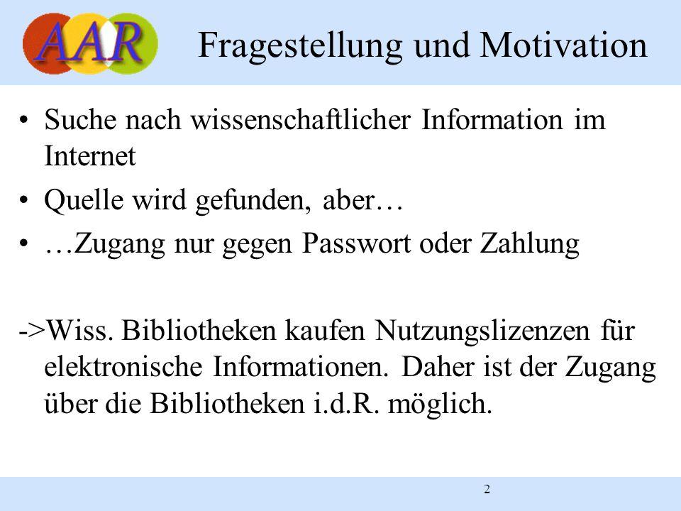 Fragestellung und Motivation