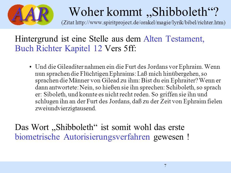 "Woher kommt ""Shibboleth . (Zitat http://www. spiritproject"