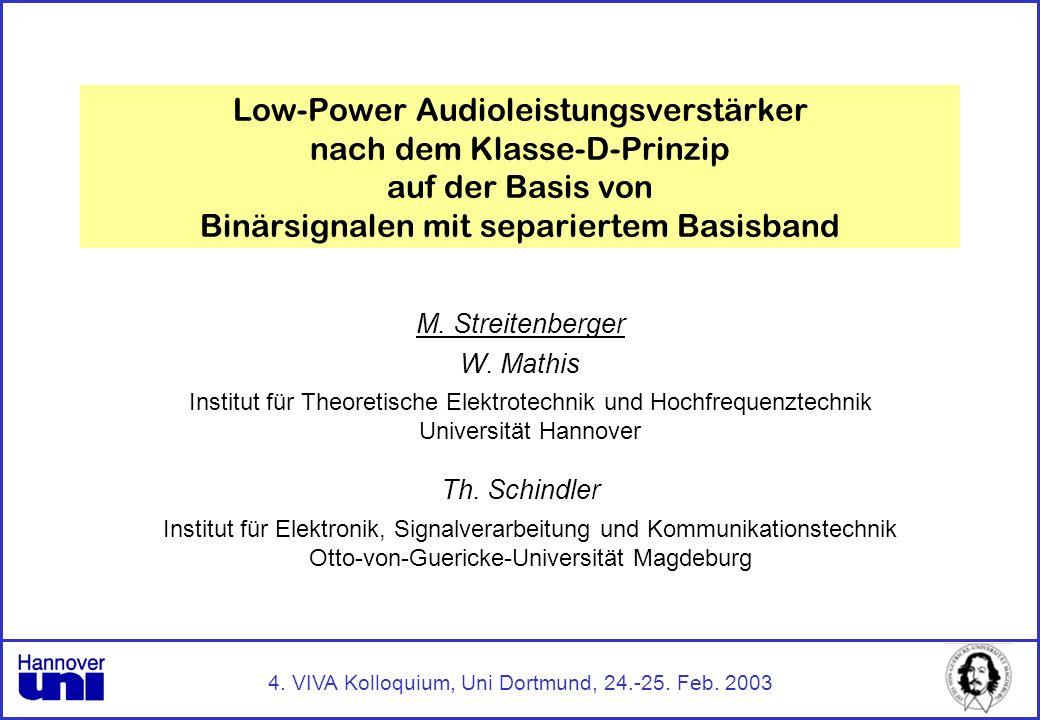 4. VIVA Kolloquium, Uni Dortmund, 24.-25. Feb. 2003