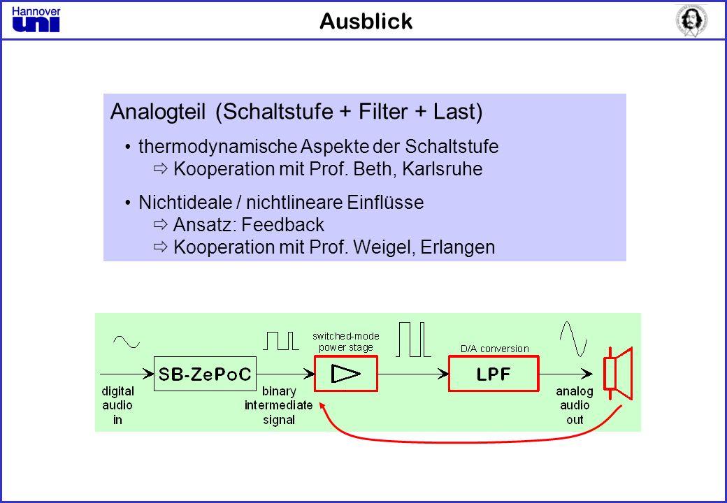 Analogteil (Schaltstufe + Filter + Last)