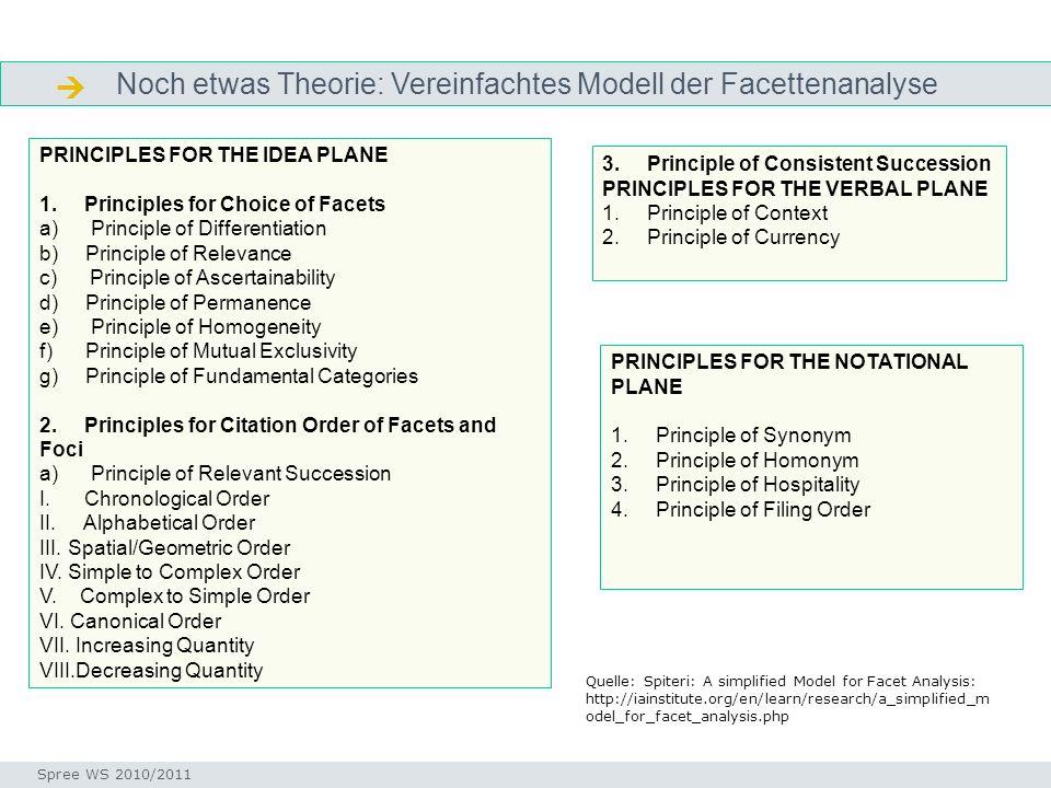  Noch etwas Theorie: Vereinfachtes Modell der Facettenanalyse