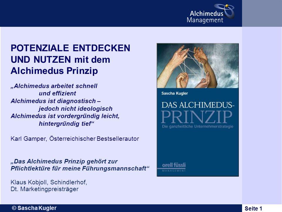 UND NUTZEN mit dem Alchimedus Prinzip