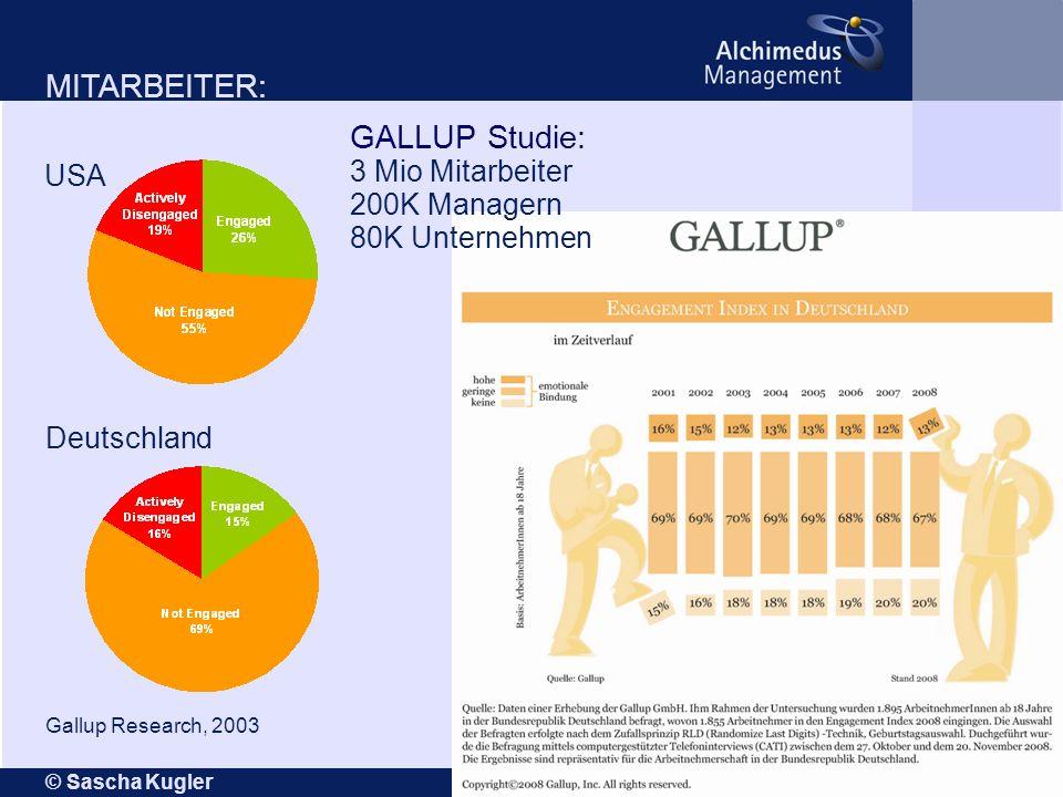 GALLUP Studie: 3 Mio Mitarbeiter 200K Managern 80K Unternehmen