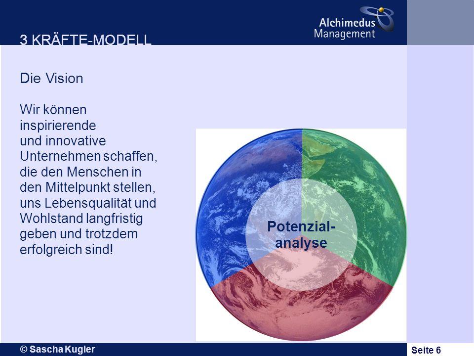 3 KRÄFTE-MODELL Die Vision Potenzial-analyse Wir können