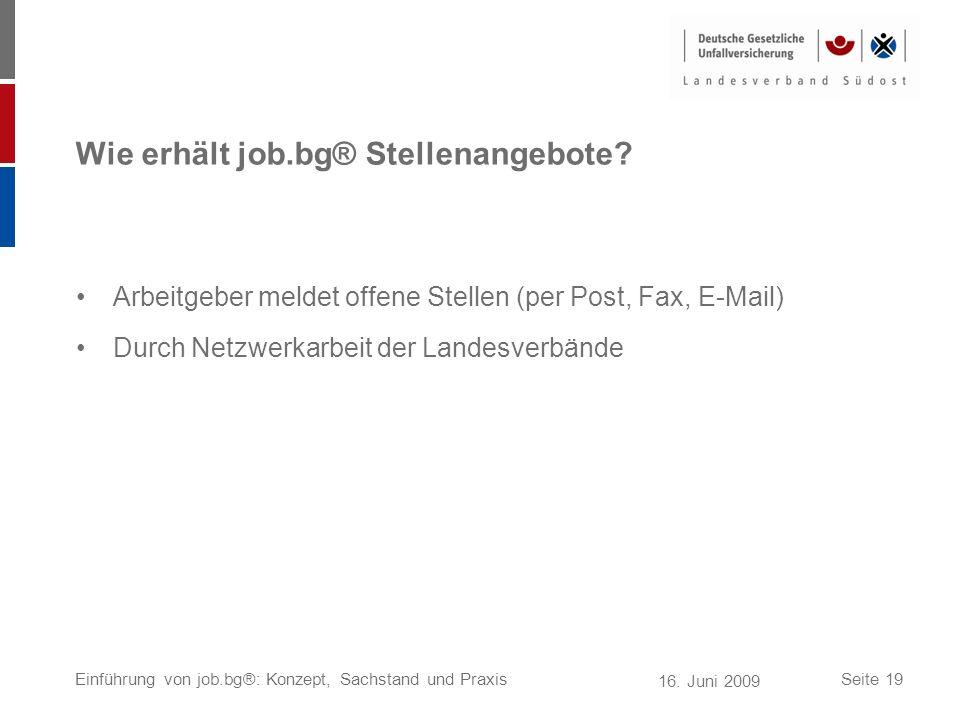 Wie erhält job.bg® Stellenangebote