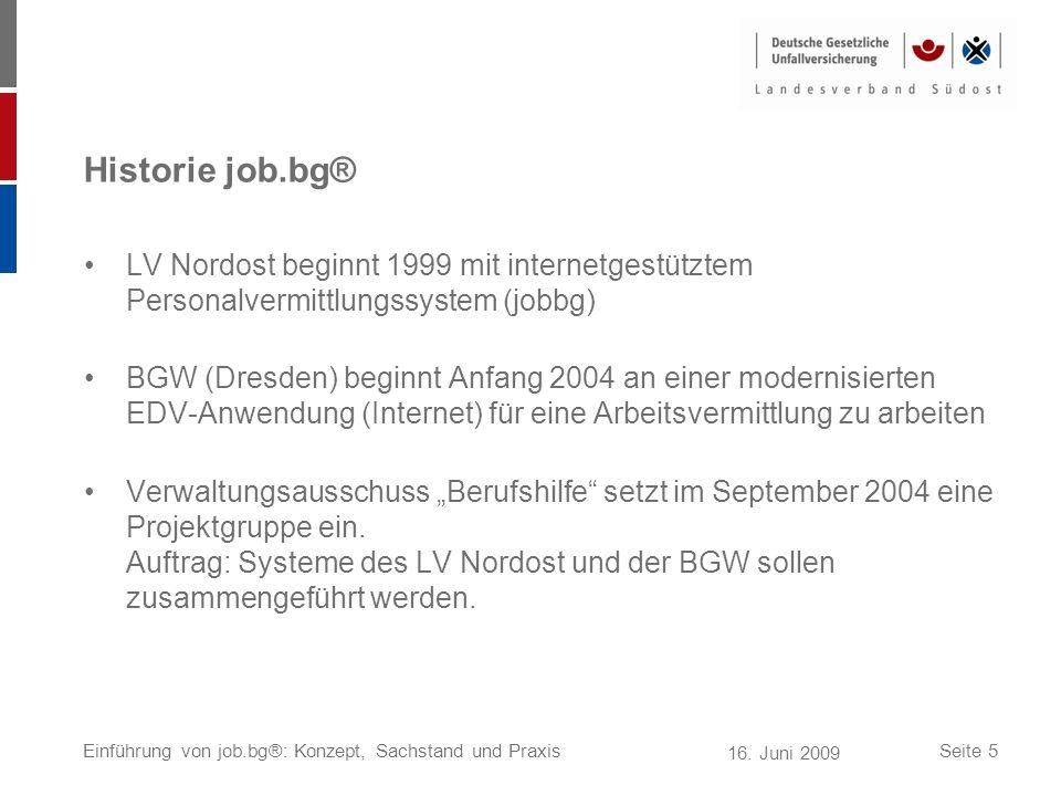 Historie job.bg® LV Nordost beginnt 1999 mit internetgestütztem Personalvermittlungssystem (jobbg)