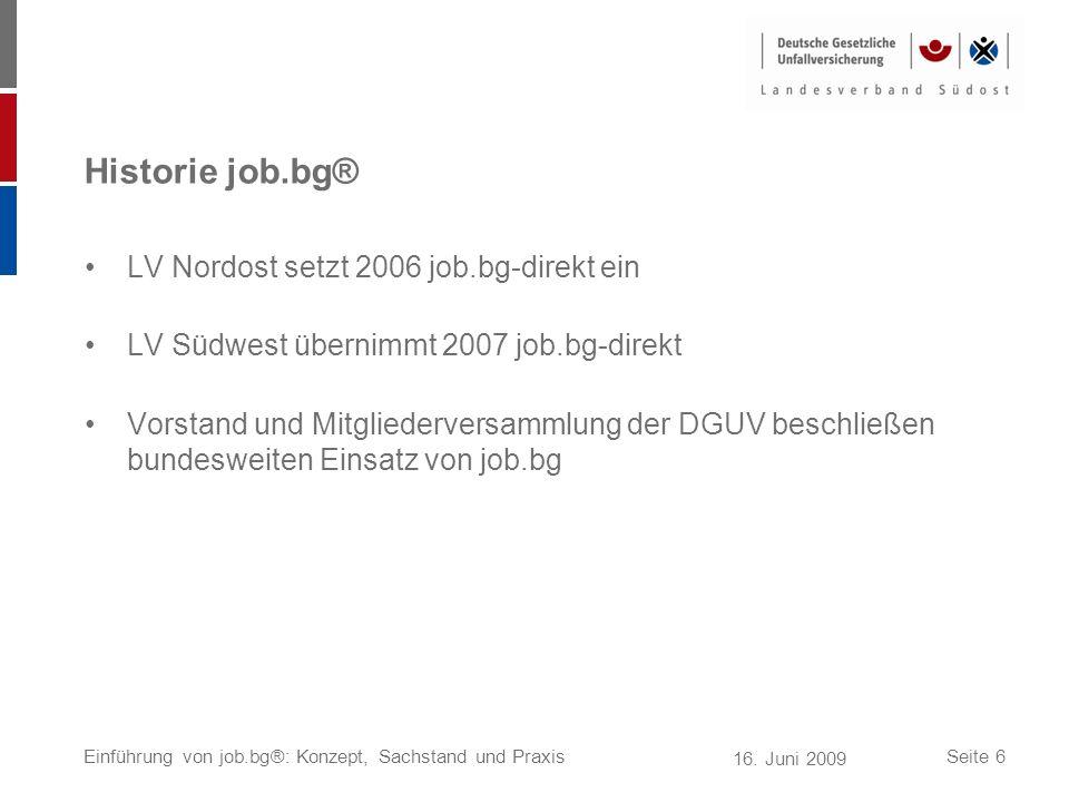 Historie job.bg® LV Nordost setzt 2006 job.bg-direkt ein