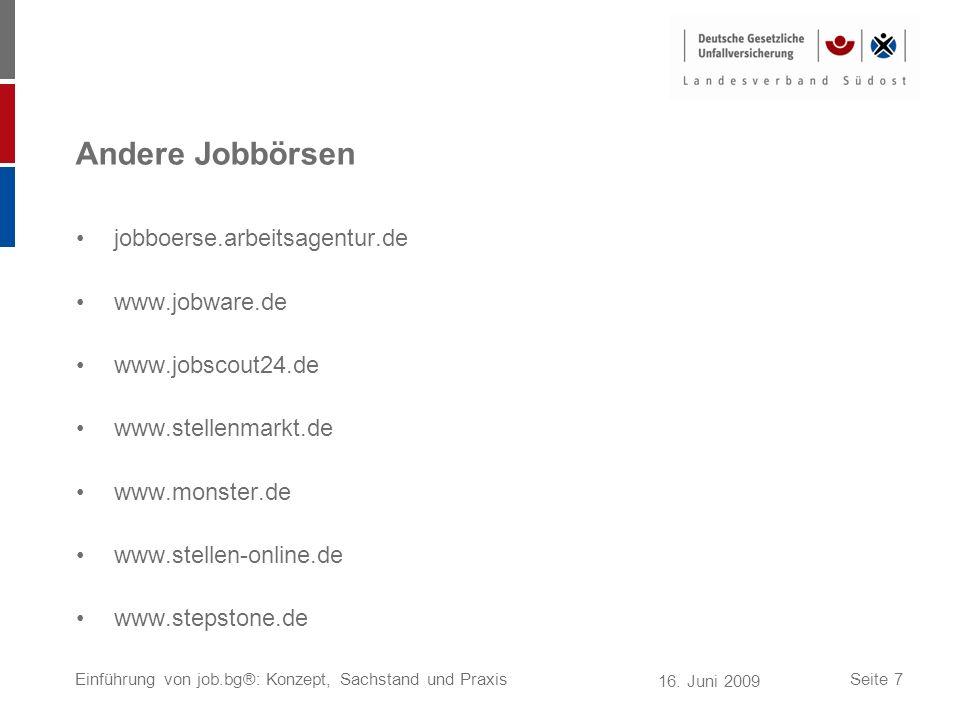 Andere Jobbörsen jobboerse.arbeitsagentur.de www.jobware.de