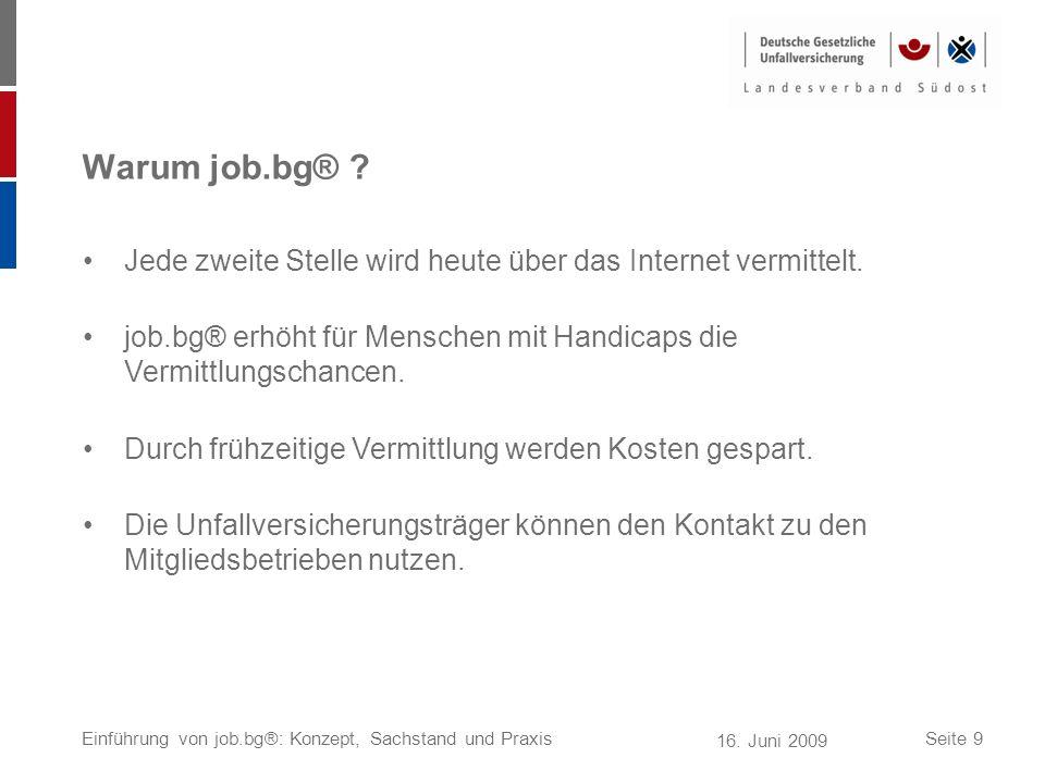 Warum job.bg® Jede zweite Stelle wird heute über das Internet vermittelt. job.bg® erhöht für Menschen mit Handicaps die Vermittlungschancen.