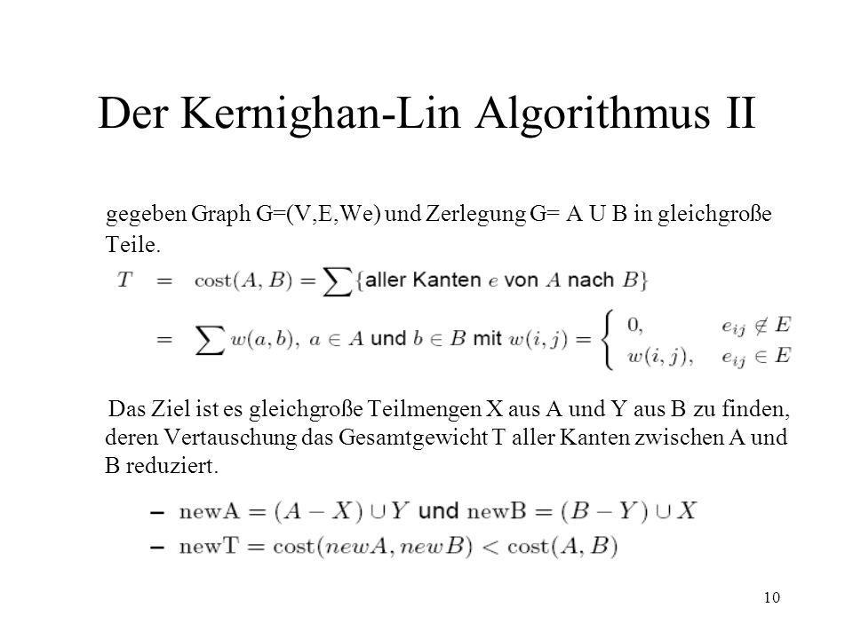 Der Kernighan-Lin Algorithmus II
