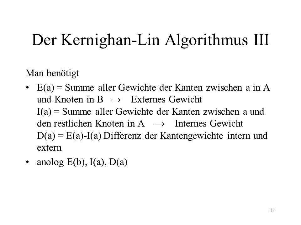 Der Kernighan-Lin Algorithmus III