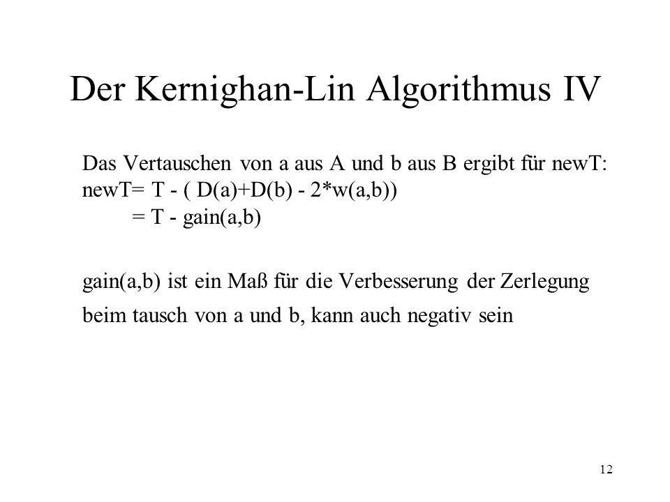 Der Kernighan-Lin Algorithmus IV