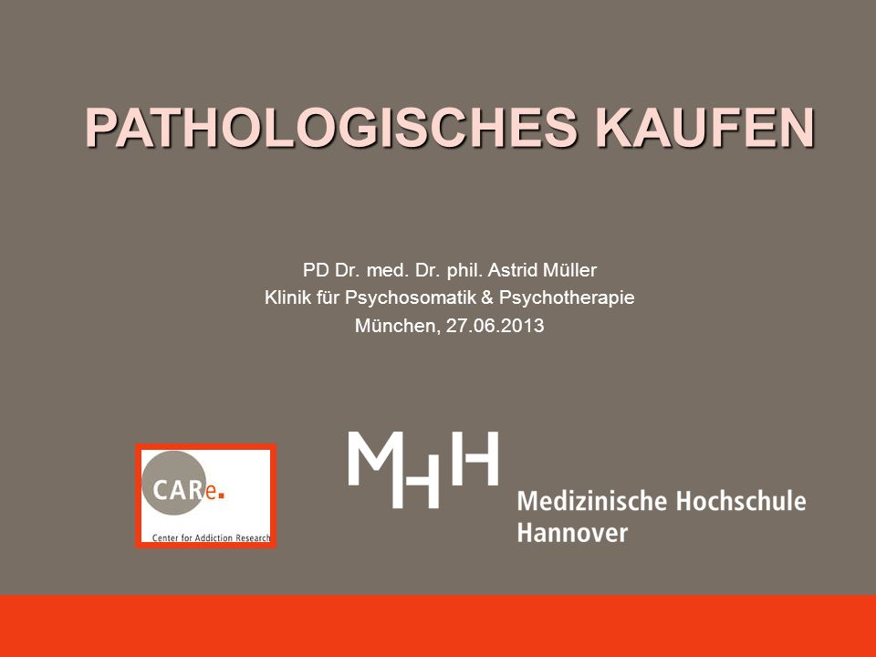 PATHOLOGISCHES KAUFEN