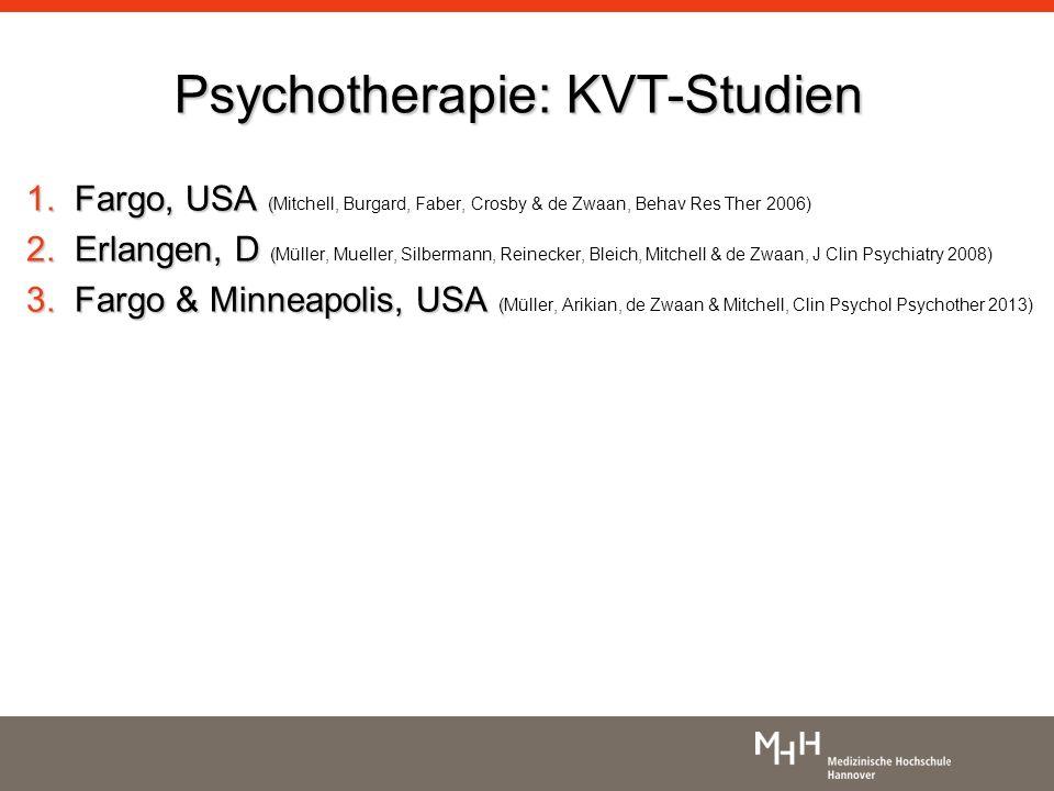 Psychotherapie: KVT-Studien