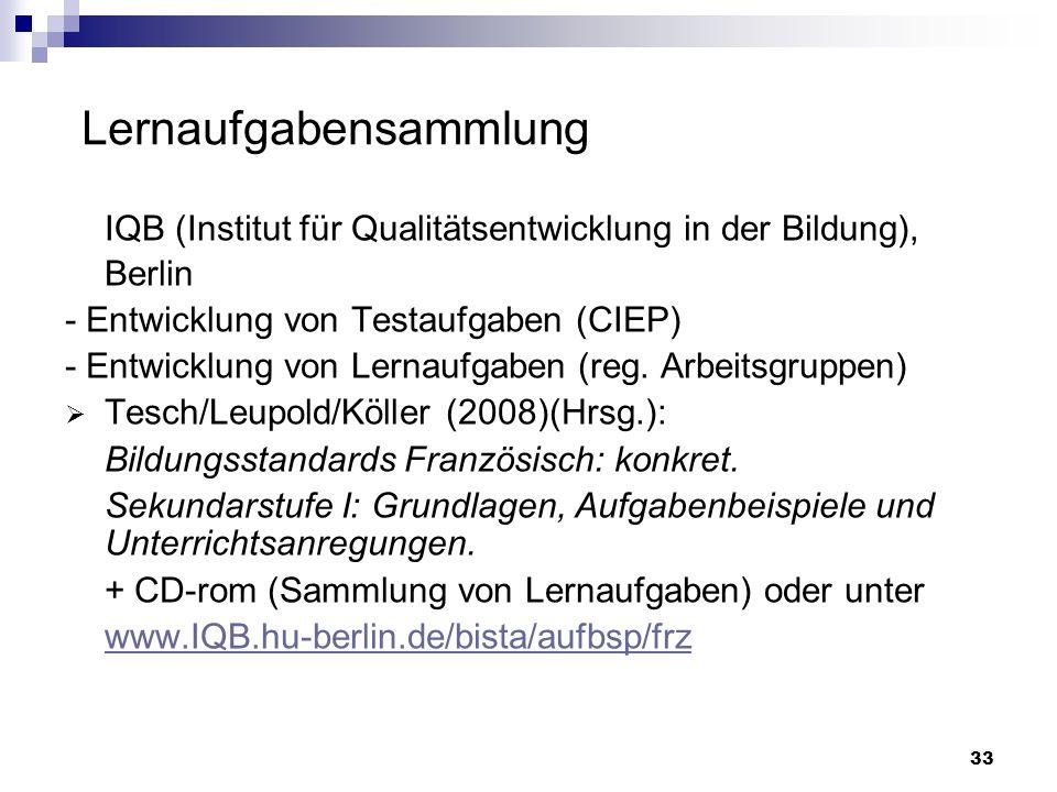 IQB (Institut für Qualitätsentwicklung in der Bildung), Berlin