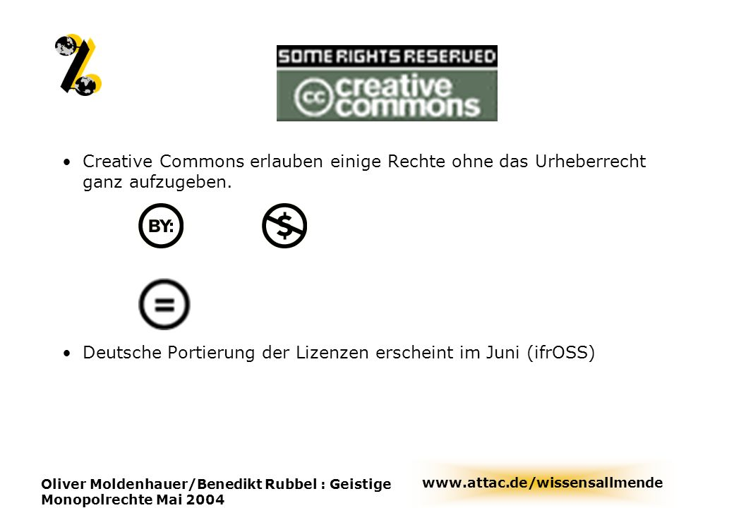 Deutsche Portierung der Lizenzen erscheint im Juni (ifrOSS)