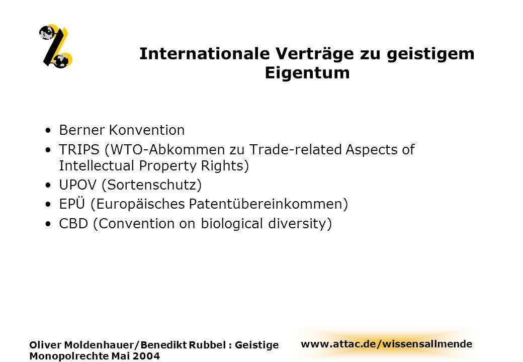 Internationale Verträge zu geistigem Eigentum