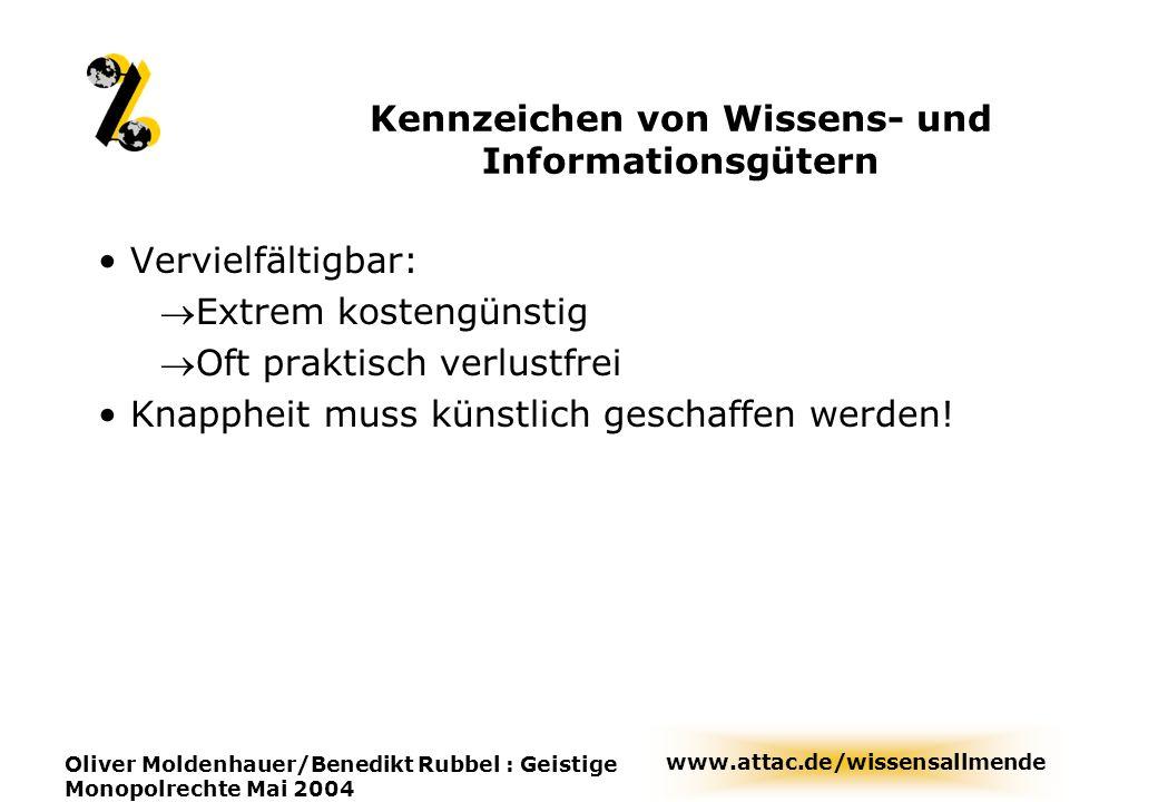 Kennzeichen von Wissens- und Informationsgütern