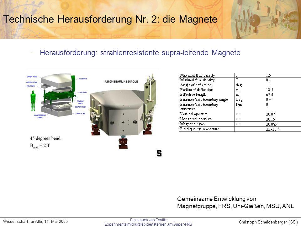 Technische Herausforderung Nr. 2: die Magnete