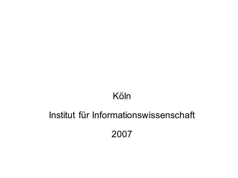 Institut für Informationswissenschaft
