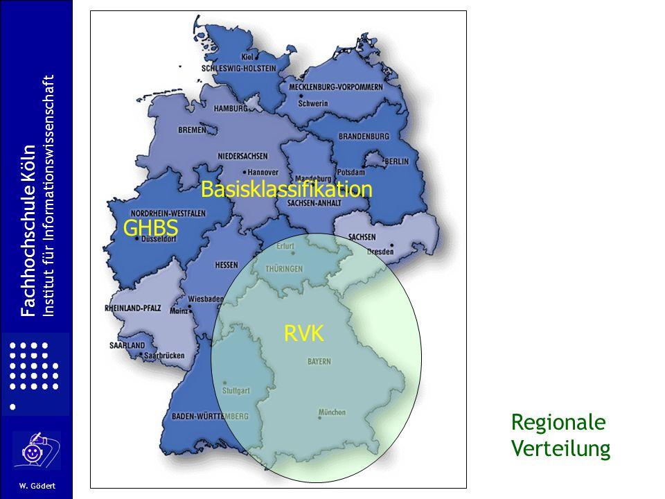 Basisklassifikation GHBS RVK Regionale Verteilung Fachhochschule Köln