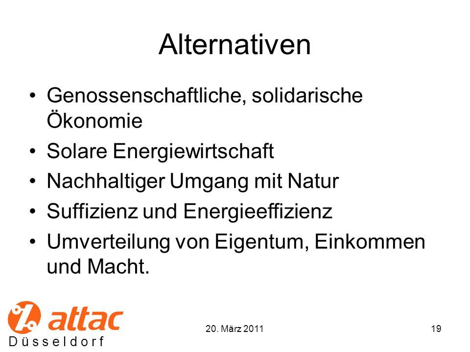 Alternativen Genossenschaftliche, solidarische Ökonomie