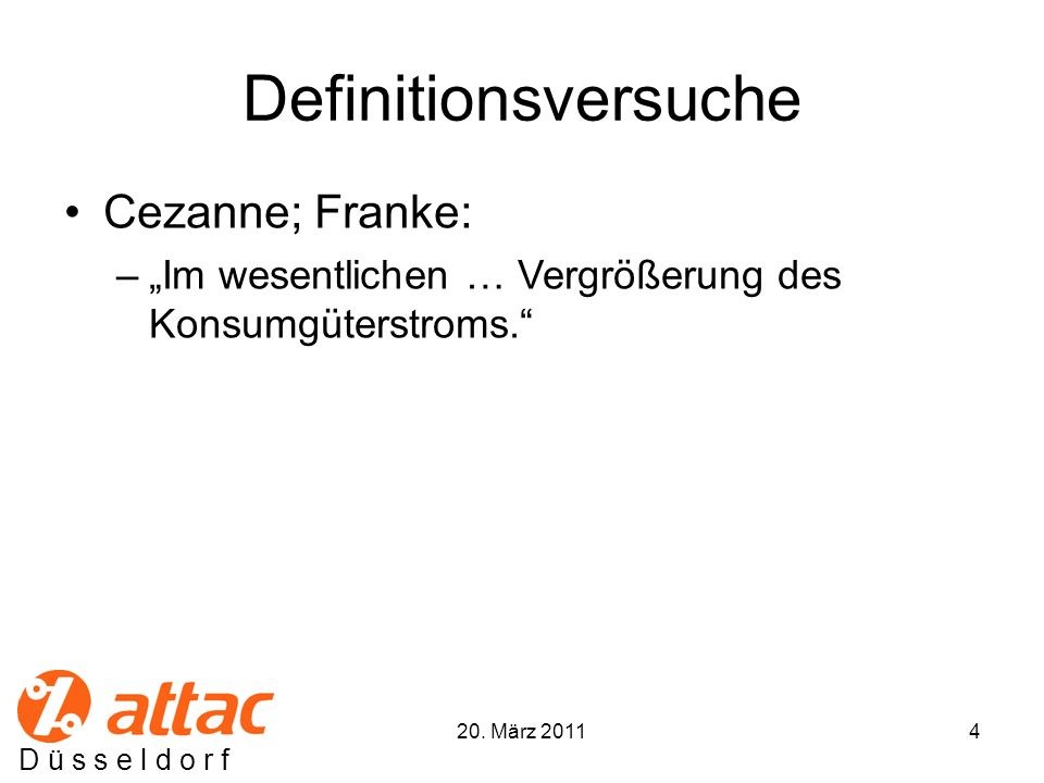 Definitionsversuche Cezanne; Franke: