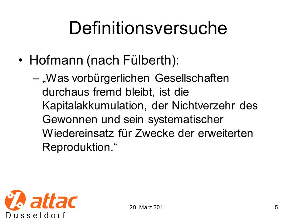 Definitionsversuche Hofmann (nach Fülberth):