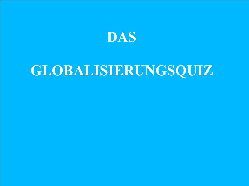 DAS GLOBALISIERUNGSQUIZ