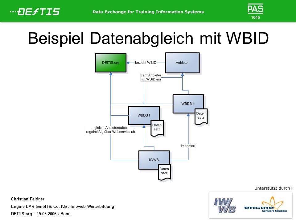 Beispiel Datenabgleich mit WBID