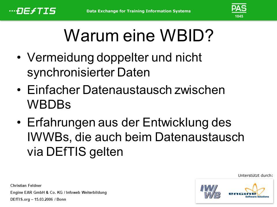 Warum eine WBID Vermeidung doppelter und nicht synchronisierter Daten