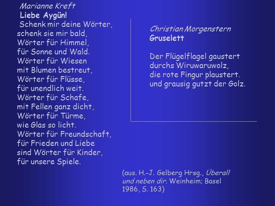 Christian Morgenstern Gruselett Der Flügelflagel gaustert