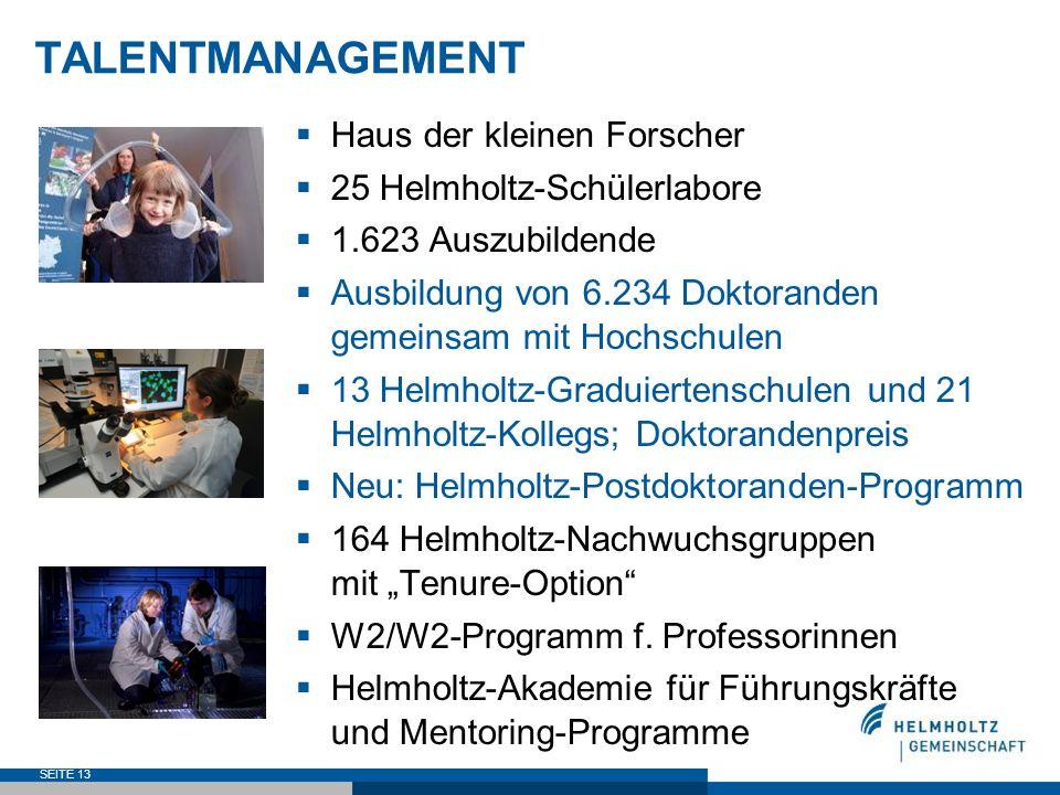 TALENTMANAGEMENT Haus der kleinen Forscher 25 Helmholtz-Schülerlabore