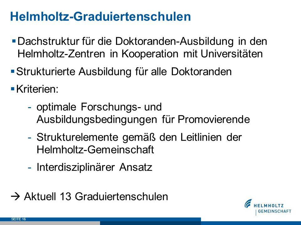 Helmholtz-Graduiertenschulen
