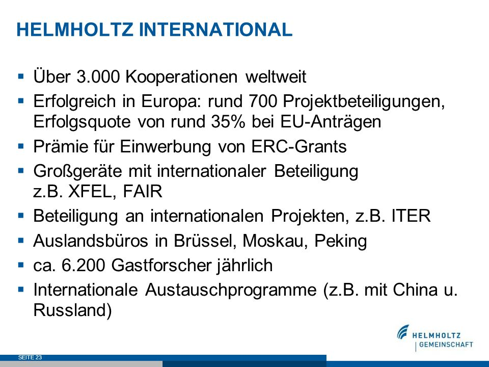 HELMHOLTZ INTERNATIONAL
