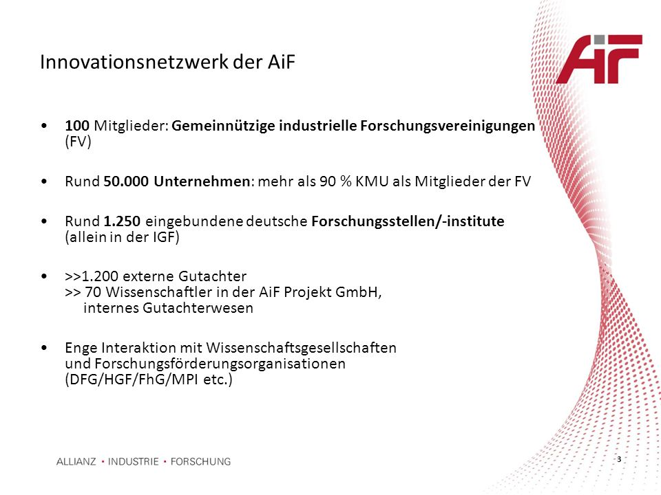 Innovationsnetzwerk der AiF