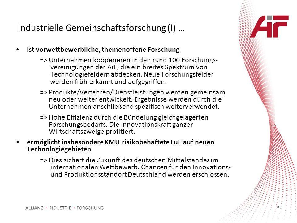 Industrielle Gemeinschaftsforschung (I) …