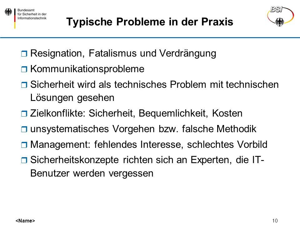 Typische Probleme in der Praxis