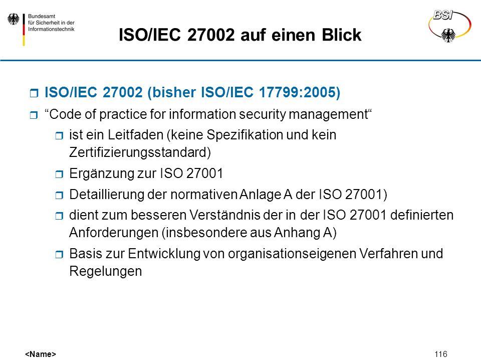 ISO/IEC 27002 auf einen Blick