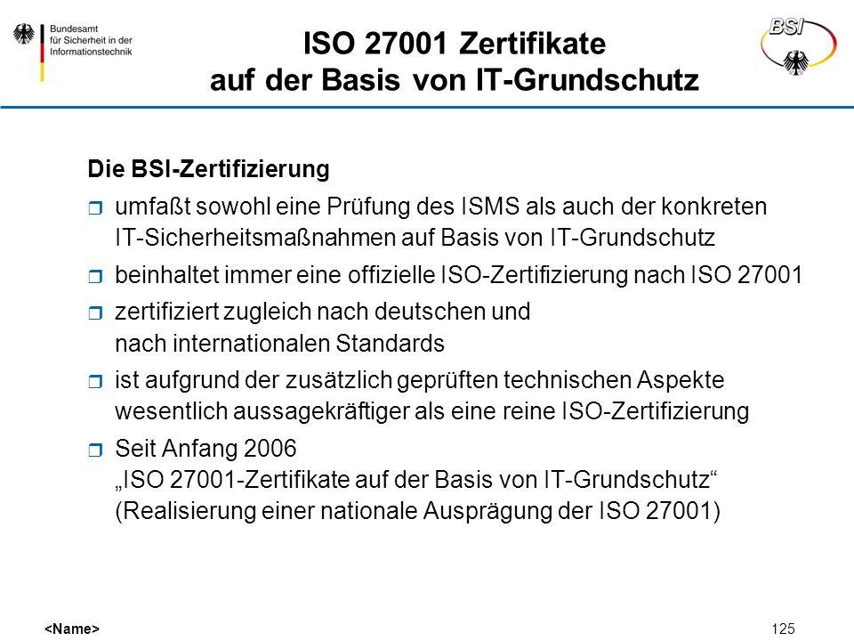 ISO 27001 Zertifikate auf der Basis von IT-Grundschutz