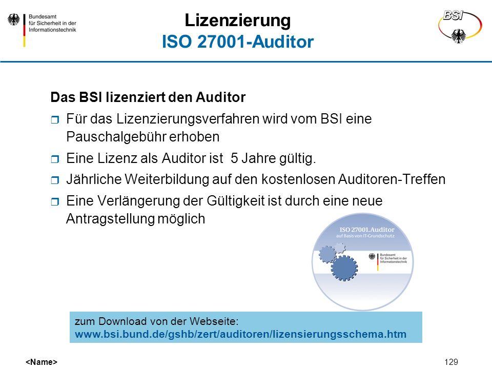 Lizenzierung ISO 27001-Auditor