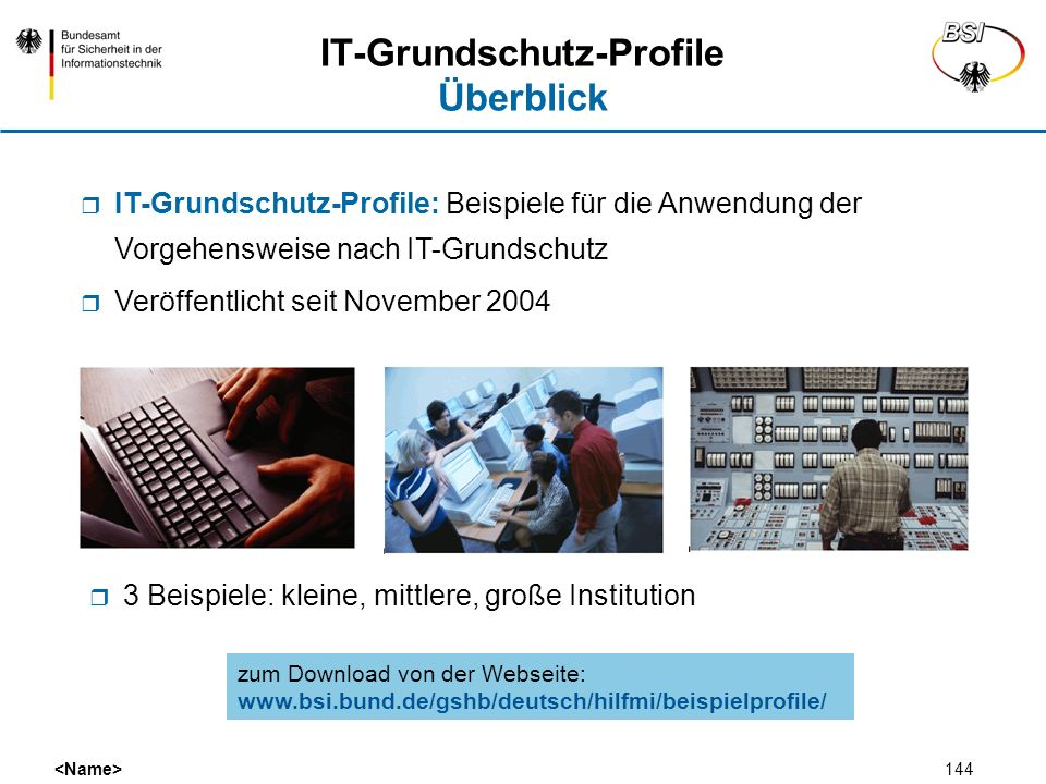IT-Grundschutz-Profile Überblick