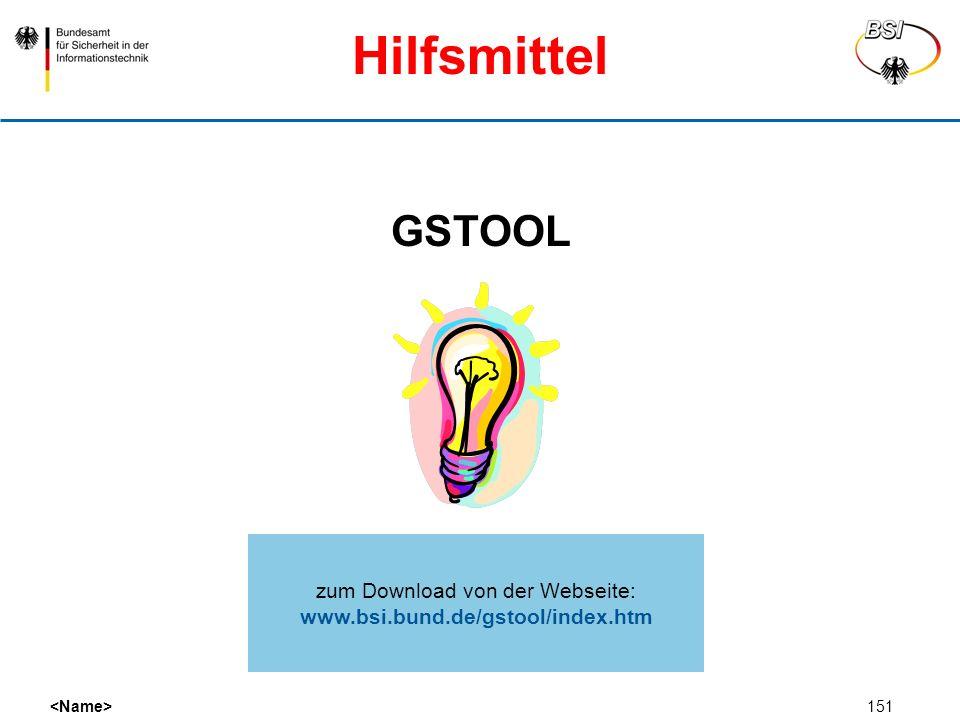 zum Download von der Webseite: www.bsi.bund.de/gstool/index.htm