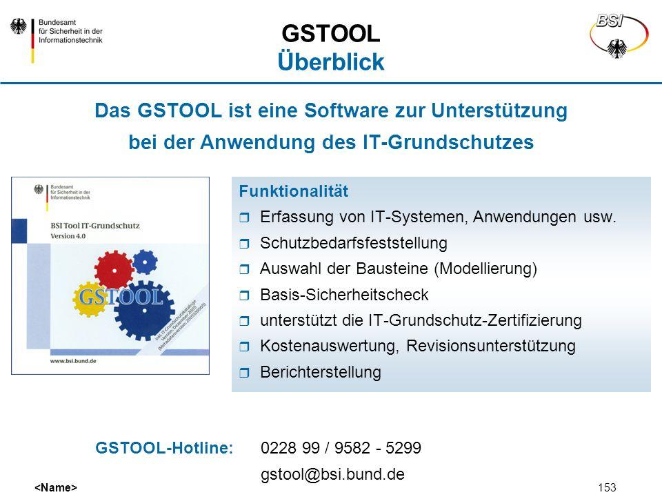 GSTOOL Überblick Das GSTOOL ist eine Software zur Unterstützung