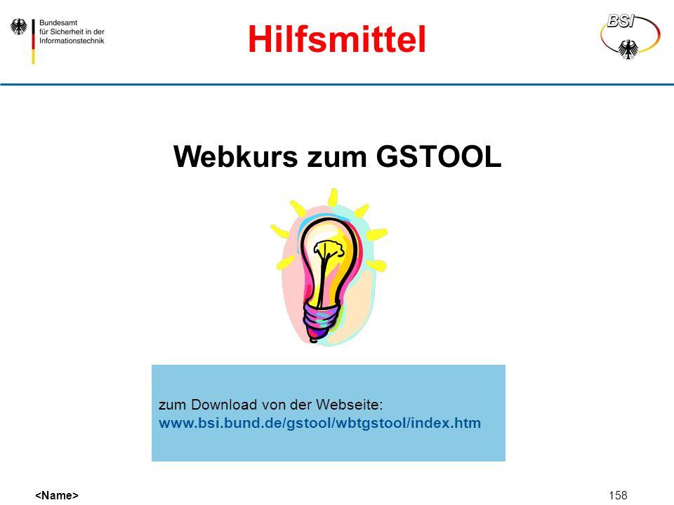 Hilfsmittel Webkurs zum GSTOOL