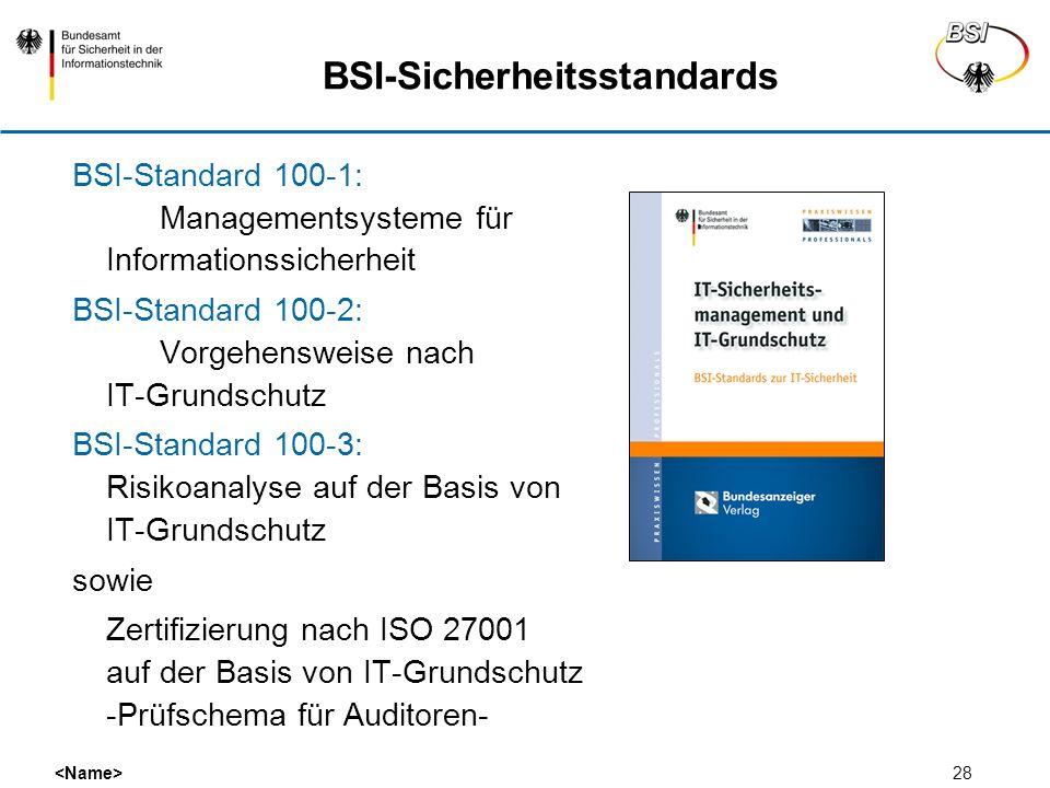 BSI-Sicherheitsstandards