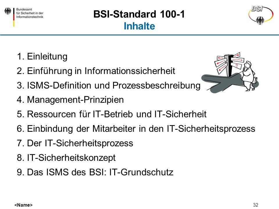 BSI-Standard 100-1 Inhalte