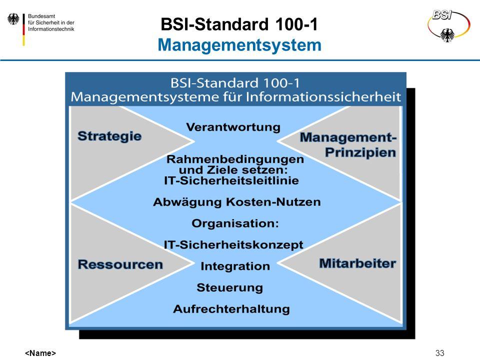 BSI-Standard 100-1 Managementsystem
