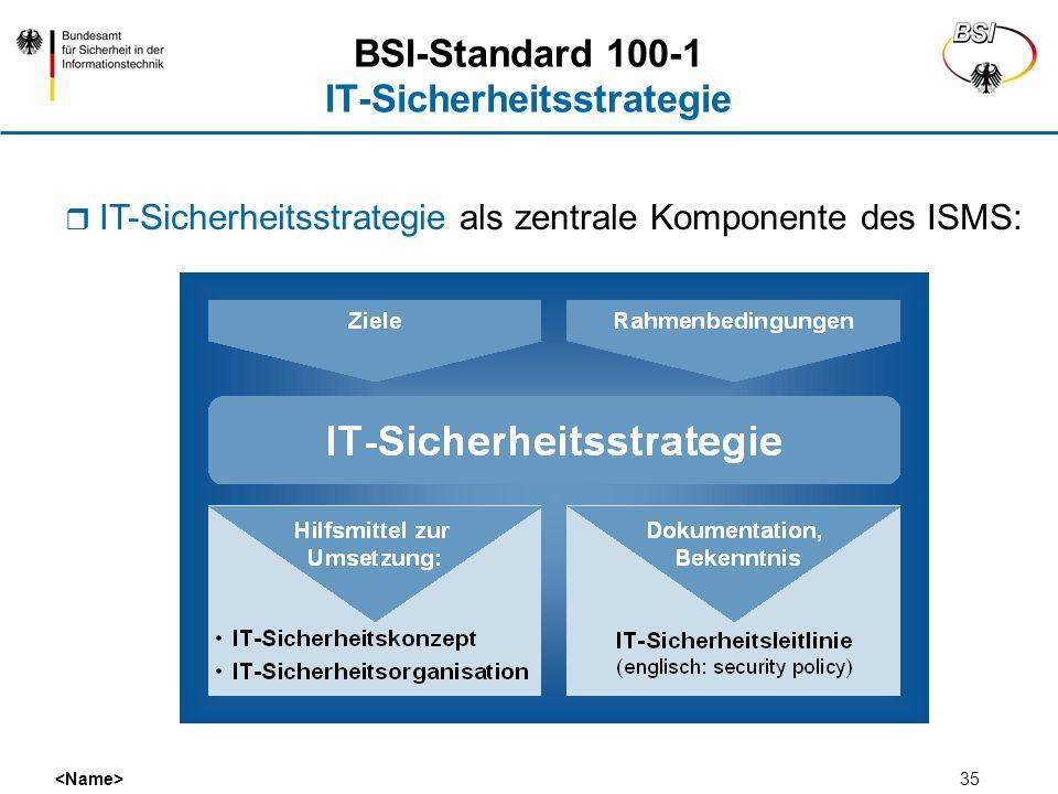 BSI-Standard 100-1 IT-Sicherheitsstrategie